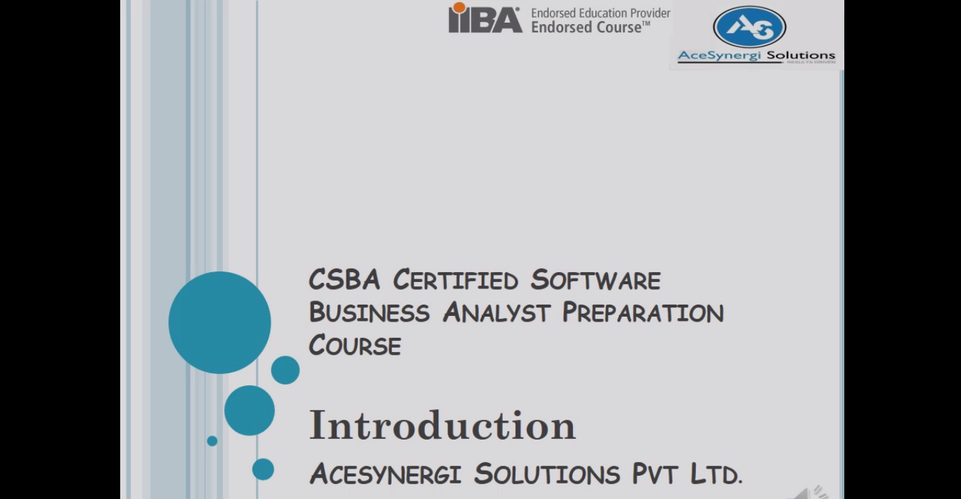 Business Analyst Training In Hyderabad Acesynergi